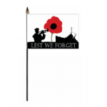 Lest We Forget Navy Hand Flag - Small